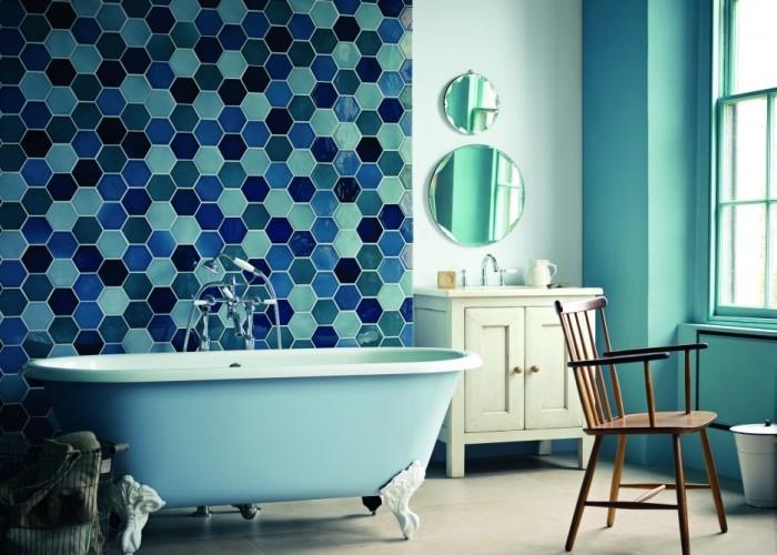 Сино-зеленая ванная.