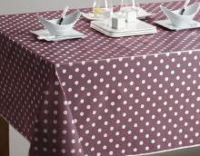 Кухонная скатерть в горошек для повседневного использования