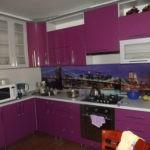 Красивые скинали для фиолетовой кухни