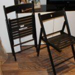 Складной стул из деревянных реек