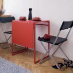 Компактная мебель для кухни складного типа