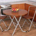 Круглый стол складной конструкции
