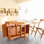 Современный комплект раскладной мебели для кухни