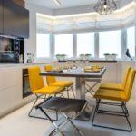 Дизайн кухни с раскладной мебелью