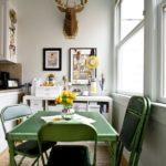 Зеленая мебель в интерьере кухни