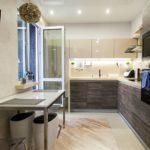 Освещение маленькой кухни угловой планировки