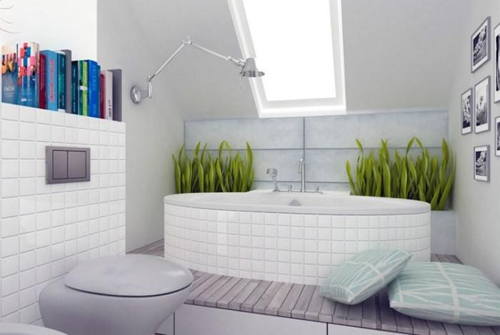 Цвета в ванной комнате.