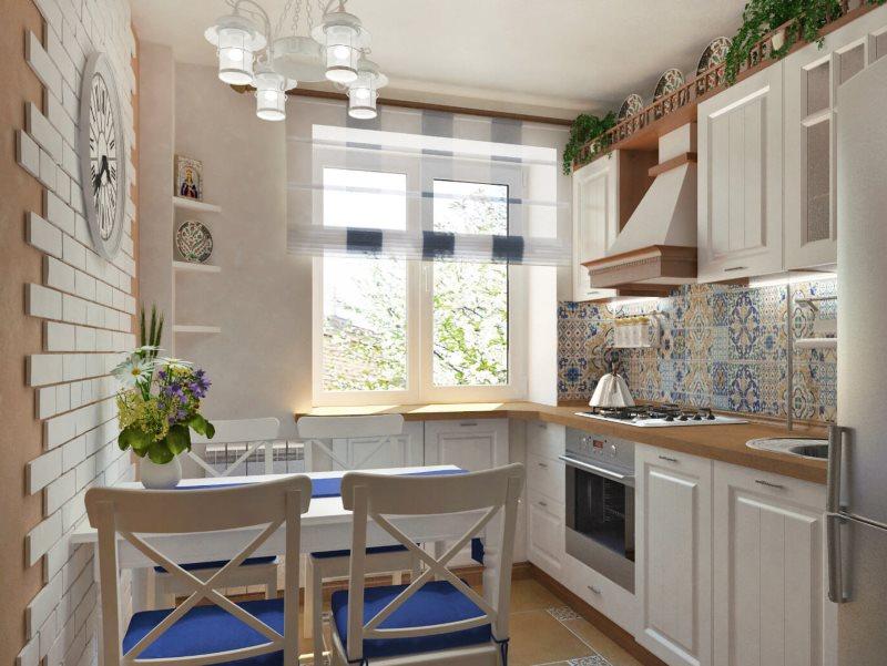 Дизайн кухни в панельном доме в средиземноморском стиле