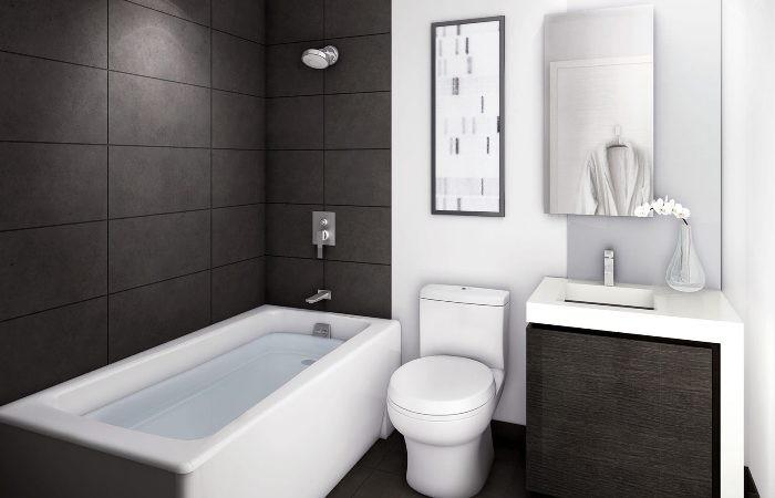 минимализм в ванной.