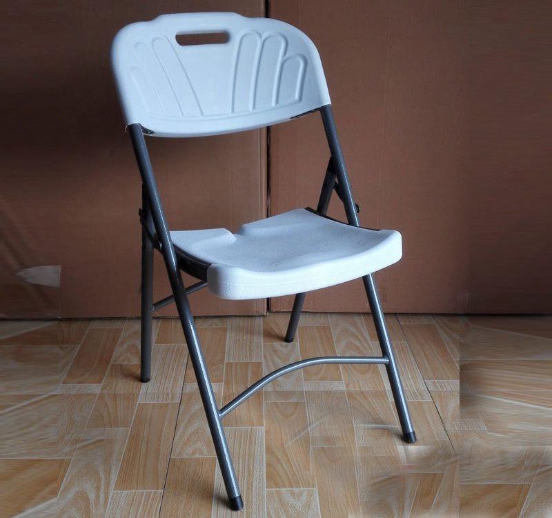 Складной стульчик на трубчатом каркасе с пластиковой спинкой