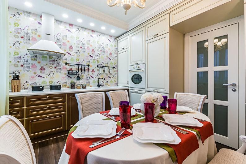 Обеденная зона кухни площадью в 11 квадратов