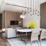 Дизайн кухни с коричневыми стенами