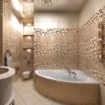 Угловая ванна в восточном стиле