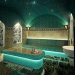 Подсветка в ванной комнате турецкого стиля