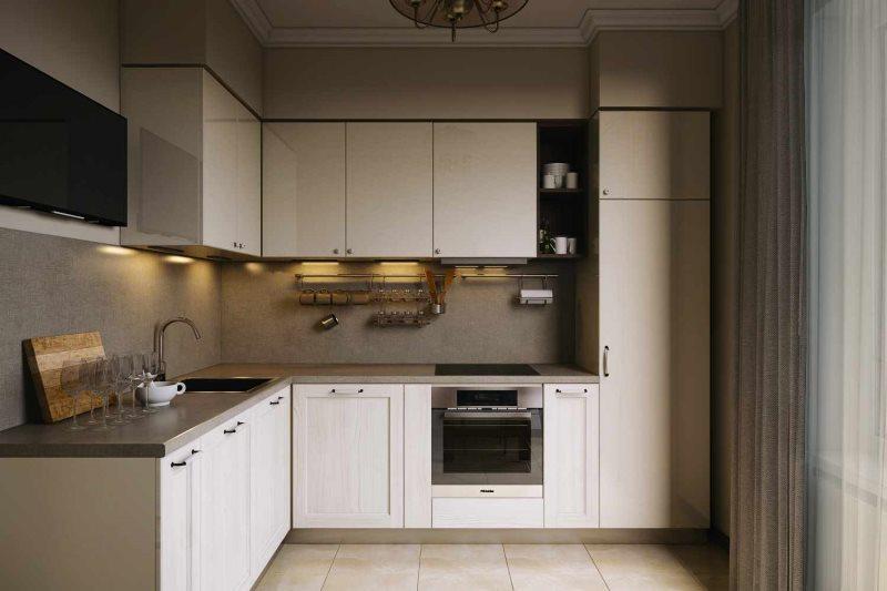 Интерьер угловой кухни площадью в 9 квадратных метров