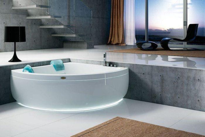 Как установить угловую ванну.
