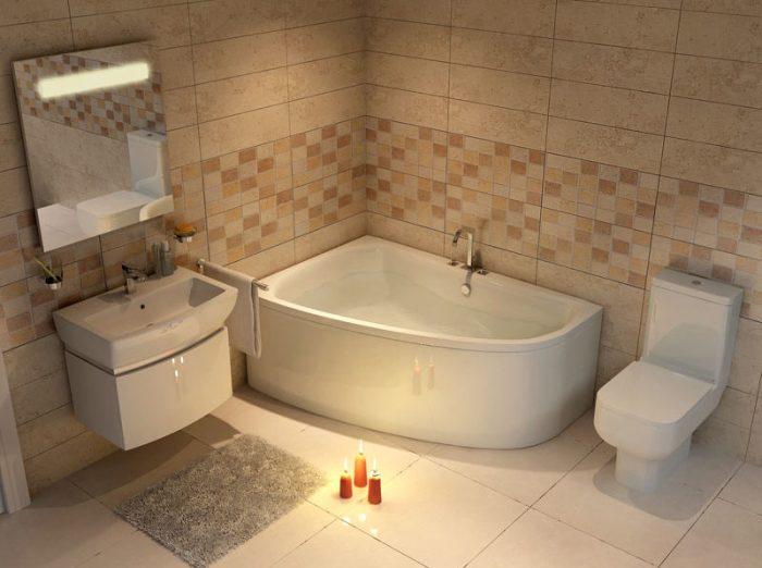 Симметричная ванна.