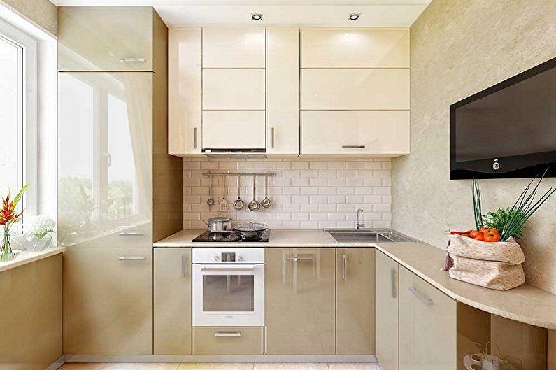 Угловой кухонный гарнитур в современном стиле