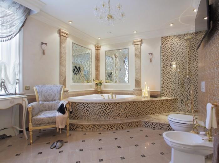 Угловая ванная.