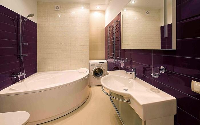 Вместительность угловых ванн.