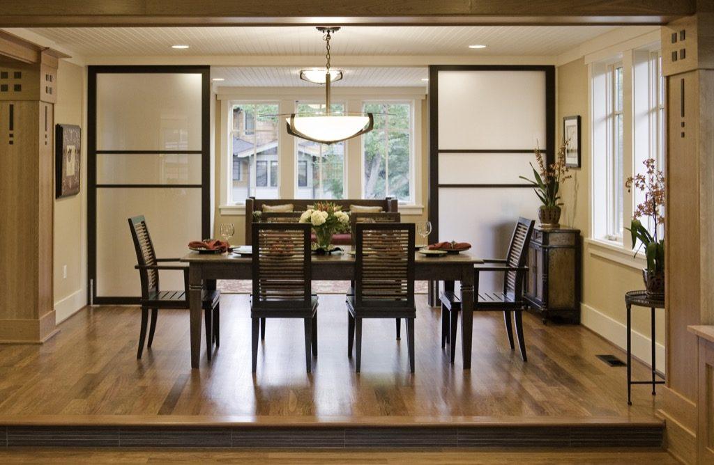 Обеденная зона кухни в восточном стиле