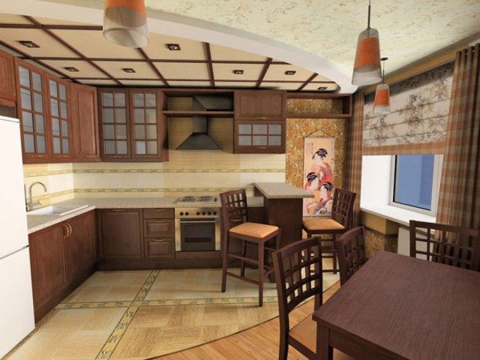 Дизайн восточной кухни.