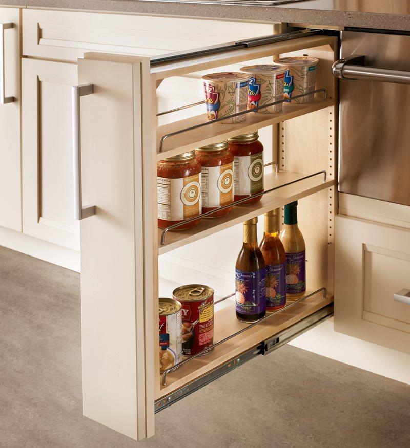 Выдвижная секция кухонного шкафа
