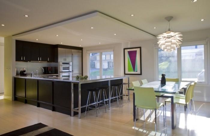 Дизайн потолка кухни.
