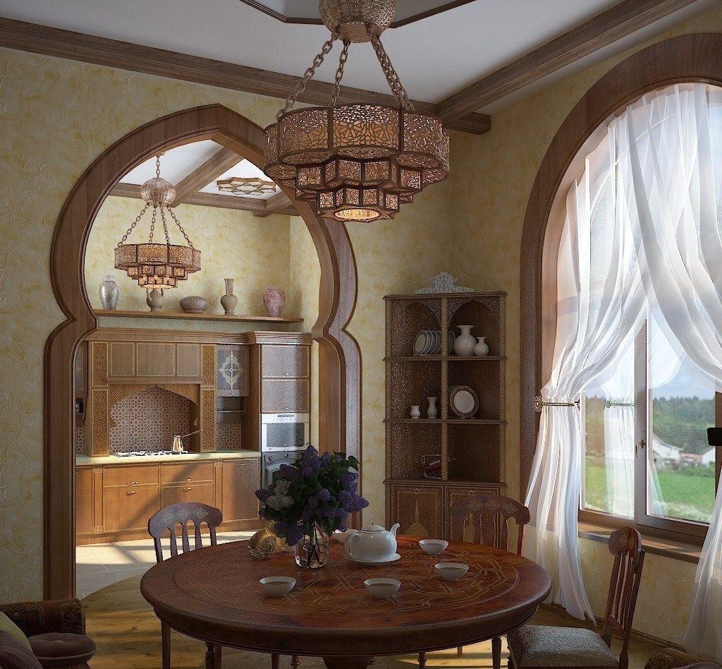 Обеденная зона кухни в арабском стиле