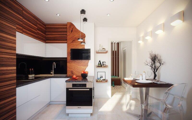 Декоративное оформление современной кухни-гостиной