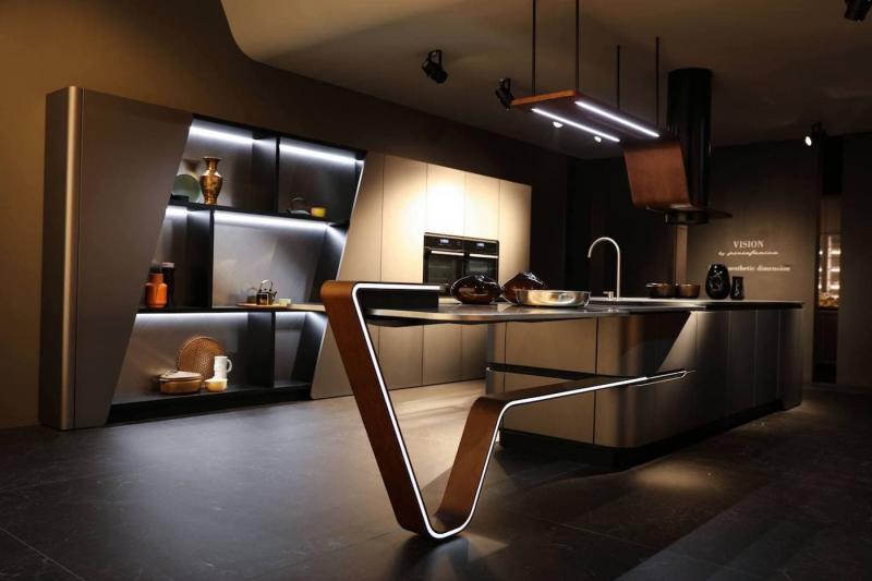 Декоративное освещение в интерьере кухни