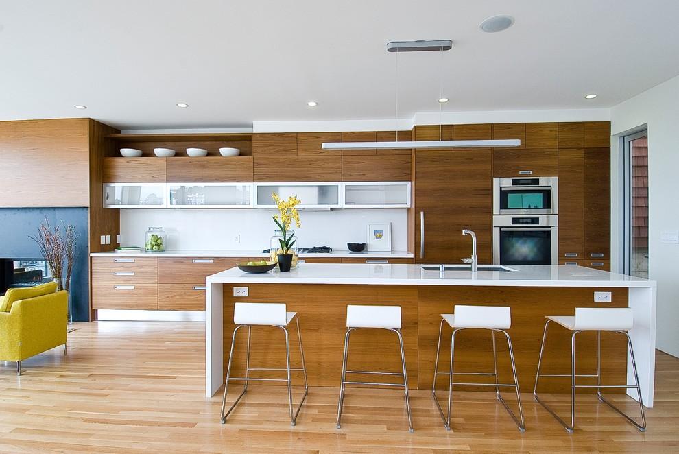 Коричневый цвет в интерьере кухни стиля модерн