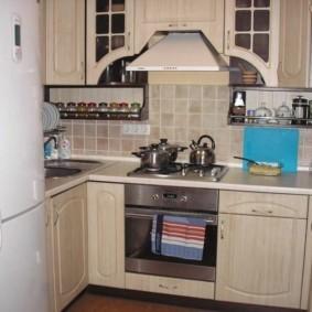 П-образная планировка малогабаритной кухни