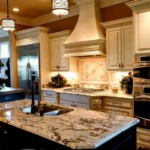 Освещение кухни с каминной вытяжкой