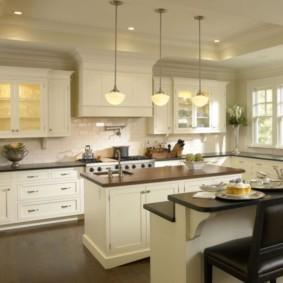 Кухонные шкафы с внутренней подсветкой