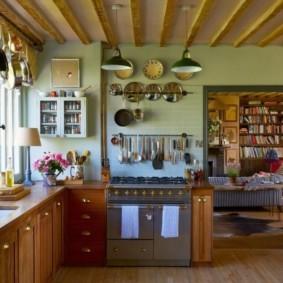 Декор кухни в сельском доме
