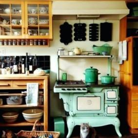 Варочная плита в ретро стиле