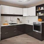 Кухонный гарнитур со встроенной духовкой