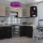 Фиолетовый плафон потолочного светильника