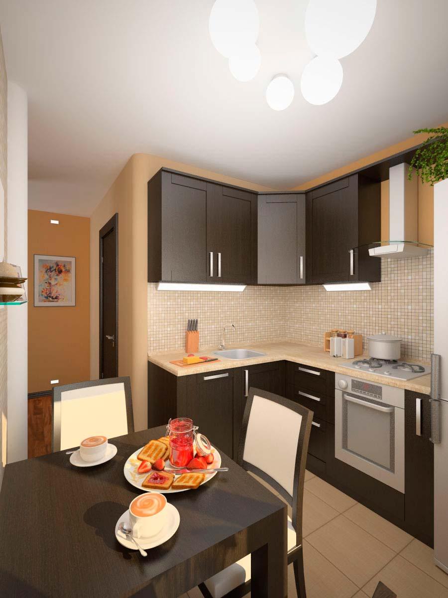 фото готовых кухонь в квартире