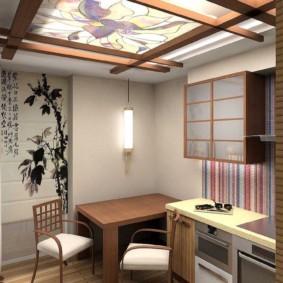 Интерьер кухни в японском стиле