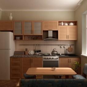 Дизайн кухни с небольшим диванчиком
