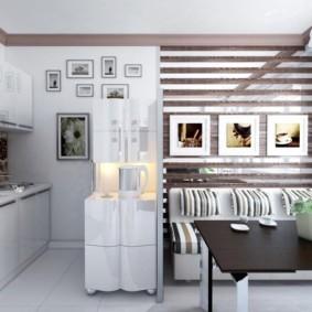 Картины в интерьере кухни-гостиной