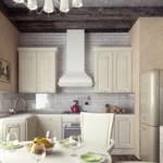 Рабочая зона кухни-гостиной в деревенском стиле