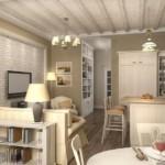 Дизайн кухни-гостиной в духе английского кантри