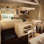Дизайн уютной кухни в сельском доме