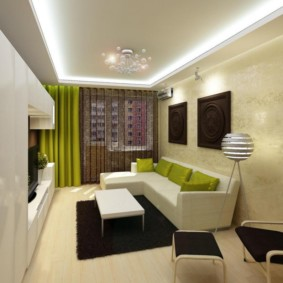 Светодиодная подсветка потолка в жилой комнате