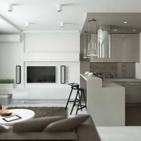 Дизайн кухни-гостиной небольшой площади