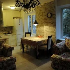 Освещение кухни-гостиной в хрущевке