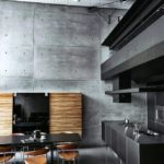Серая поверхность бетонной стены
